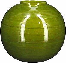 Pirouette Paris 7833040 Vase, Kugel, olivgrün,