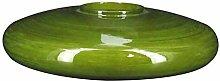 Pirouette Paris 7833043 Vase, flach, olivgrün,