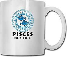 Pisces L Tea Cup Novelty Gift for Friends