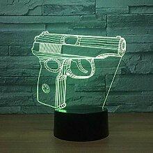 Pistole 3D Nachtlicht Touch Kleiderschrank