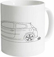 PistonHeads Clio 200 Cup Becher, Weiß