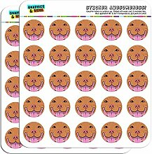 Pit Bull Face Red Nose Pet Dog 1 Scrapbooking Crafting Stickers by Graphics and More