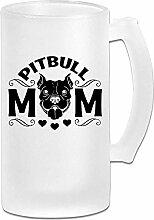 Pitbull Mom DIY Print Glas Bier Wasser Tasse