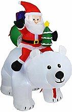 PITCHBLA 2m Licht Weihnachten Aufblasbare Puppe