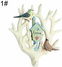 pittospwer 3D Parrot Garderobenleiste für die