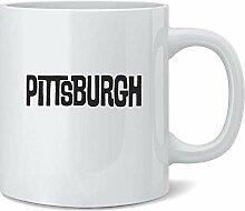 Pittsburgh Retro Vintage Travel Ceramic Coffee Mug