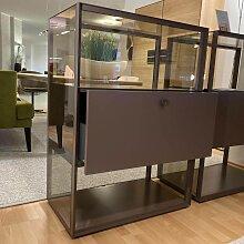 Piure   Raumteiler Mesh mit Schubkasten P42 Lack
