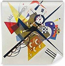 PIXERS Fototapete Wassily Kandinsky - Auf Weiß Ii