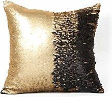 """Pixnor Glitter Pailletten Home Sofa Throw Pillow Case Kissen decken 16 """"""""x 16"""""""" (braun)"""