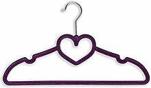 Pixnor Heart Shaped Velvet Kleiderbügel Set 10 Lila
