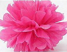 Pixnor Pom Poms Seidenpapier Blumen Tissue-Papierblumen Hochzeitsdeko Partei-Dekor 5 Packungen Rosy