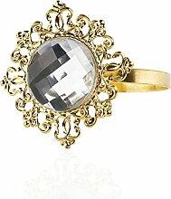 Pixnor Serviette wickelt Diamond Serviettenringe