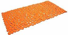 Pixnor Starke Absaugung Anti-SlipBath Mat, 35 x 70cm, Orange