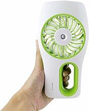 PIXNOR USB Mini Fan mit Kühlung Luftbefeuchter - Grün