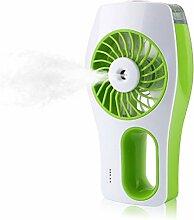 PIXNOR USB Ventilator, USB wiederaufladbare Ventilator mit kühlen Nebel Luftbefeuchter (grün)