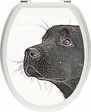 Pixxprint 3D_WCs_2777_32x40 Schwarzer Labrador im