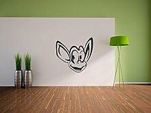Pixxprint Affengesicht Wandaufkleber Dekoration für Wohn/Schlaf -und Kinderzimmer, 600 x 570 mm