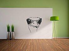 Pixxprint Cooler Strauss Wandaufkleber Dekoration für Wohn/Schlaf -und Kinderzimmer, 600 x 570 mm