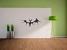 Pixxprint Fledermaus Wandaufkleber Dekoration für