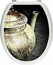 Pixxprint Klassische alte Teekanne aus Keramik