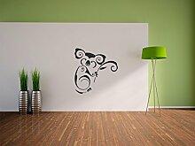 Pixxprint Koala Wandaufkleber Dekoration für Wohn/Schlaf -und Kinderzimmer, 600 x 570 mm
