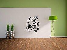 Pixxprint Niedlicher Hund Wandaufkleber Dekoration für Wohn/Schlaf -und Kinderzimmer, 600 x 510 mm