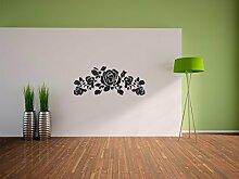Pixxprint Rosen Wandaufkleber Dekoration für Wohn/Schlaf -und Kinderzimmer, 900 x 362 mm