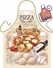 Pizza Motiv Kochschürze Italien Pizzabäcker