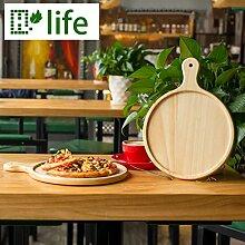 Pizzablech Brot backen Tablett aus Holz Set Kochen Teller Servieren, 17,78 cm (7 Zoll)
