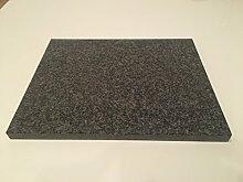 Pizzastein, Grillstein, Backstein, heißer Stein, Flammkuchen Backofenstein aus Granit 38x30x2cm poliertes Granit Nero Impala