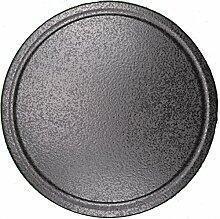 Pizzastein, Heißer Stein, Grillstein aus glasiertem Cordierit 410x12mm mit Saftrille