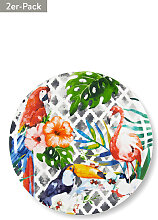 Pizzateller Tropical, 2er-Pack, H3,5 x Ø31 cm