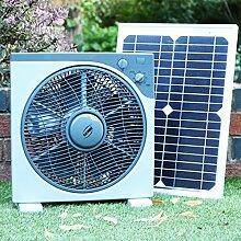 PK Green Solarlüfter 12V mit 30W Solarpanel | Solar Ventilator für Boote, Gartenhaus, Gewächshaus, Auto, Zelt, Camping | Lüfter Fan DC Tragbar 39 x 38 CM für Garage, Wohnmobil, Wohnwagen | Lüfterse