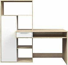PKline Fula Schreibtisch 1 Schublade 1 Tür Weiss