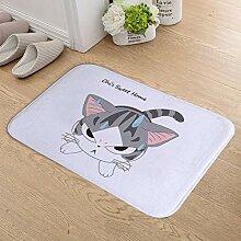 PKTMK Fußmatte Badematte Sweet Home Katze