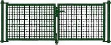 PKW Tor grün 2-frügelig 300x150cm
