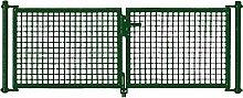 PKW Tor grün 2-frügelig 300x200cm