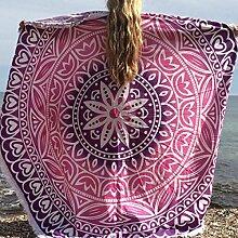 PL.PY.Europe Und Der Vereinigten Staaten Rund Badetuch-Pad Urlaub Sonnenschutz Schal Wickelrock,A-OneSize