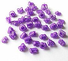 Plätzchen-Ausstechformen - Alphabet, Zahlen,