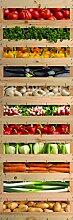 PLAGE 162209 Aufkleber für Kühlschrank-Gemüse-Korb, 180 x 59,5 cm