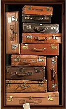 Plage Panorama-Tapete – ALTE SUITCASES Cupboard,