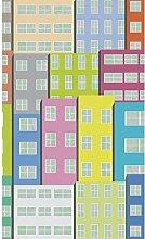 Plage Panorama-Tapete-City Kinder, Mehrfarbig,