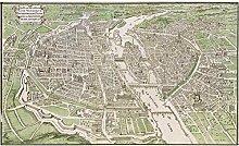 Plage Panorama-Tapete-Karte VON Paris, Beige, 1,5X