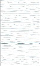 Plage Panorama-Tapete-Weisse UND Blaue HORIZONTALE
