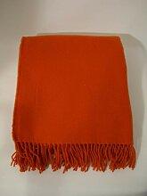 Plaid 130x170 cm Merino Wolle orange