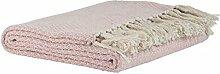 Plaid creme/rosa Karo Muster IB Laursen, Tagesdecke, Wolldecke