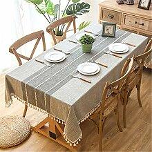 Plaid Dekorative Leinen Tischdecke Mit Quaste