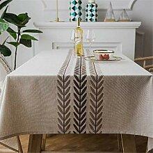 Plaid Leinen Tischdecke, mit Fransen Dekorative
