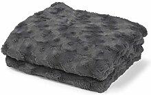 Plaid Lugga 130x180 cm dunkel grau - Tagesdecke