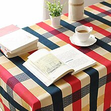 Plaid Tischdecke Baumwolle Leinwand Tischdecke